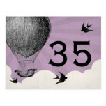 Vintage Hot Air Balloon Table Numbers Post Cards