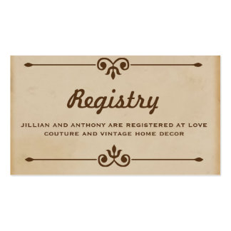 Vintage Hot Air Balloon Tan Registry Card Pack Of Standard Business Cards