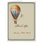 Vintage Hot Air Balloon Wedding Thank You Card