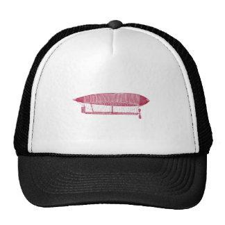 Vintage Hot Air Balloon Zeppelin Design Mesh Hats