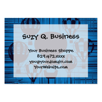 Vintage Hot Air Balloons Distressed Grunge Blue Pack Of Chubby Business Cards