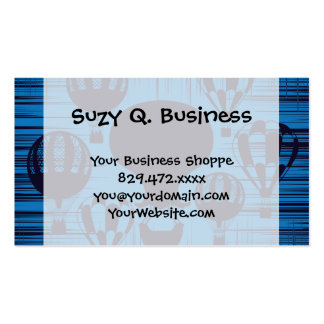 Vintage Hot Air Balloons Distressed Grunge Blue Pack Of Standard Business Cards