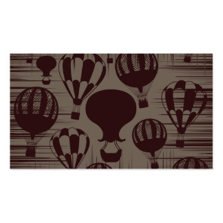 Vintage Hot Air Balloons Grunge Brown Maroon Pack Of Standard Business Cards