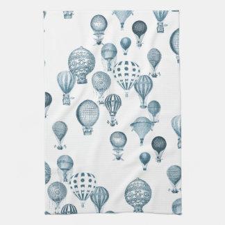 Vintage Hot Air Balloons In Flight Kitchen Towel