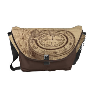 vintage hot air balloons on old map steampunk commuter bag