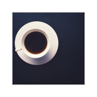Vintage Hot Espresso Coffee Photography Canvas Print