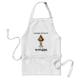 Vintage Hot Fudge Ice Cream Sundae Desserts Standard Apron