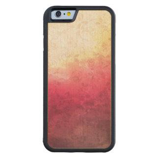 Vintage Hot Pink Grunge Floral Multicolor Pattern Carved® Maple iPhone 6 Bumper
