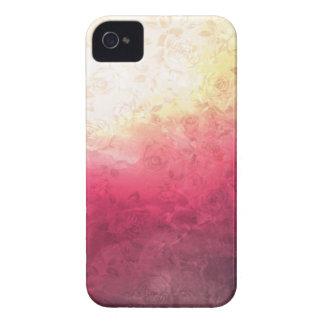 Vintage Hot Pink Grunge Floral Multicolor Pattern iPhone4 Case