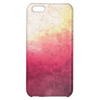 Vintage Hot Pink Grunge Floral Multicolor Pattern Case For iPhone 5C