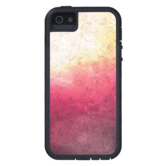 Vintage Hot Pink Grunge Floral Multicolor Pattern Tough Xtreme iPhone 5 Case