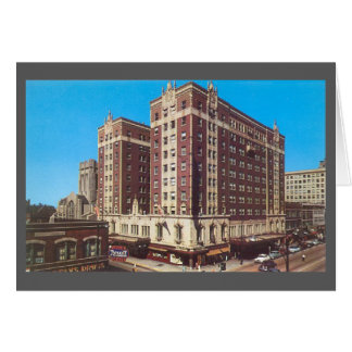 Vintage Hotel Gary, Indiana (1950s) Card