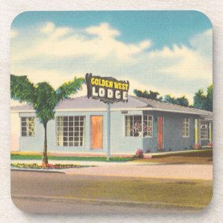 Vintage Hotel, Golden West Lodge Motel Beverage Coaster