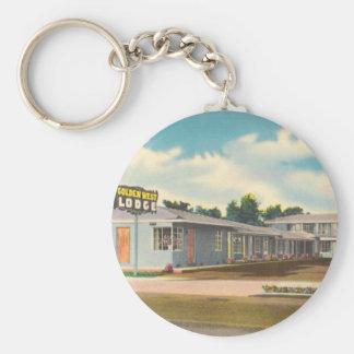 Vintage Hotel, Golden West Lodge Motel Keychains