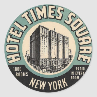 Vintage Hotel New York Times Square Sticker