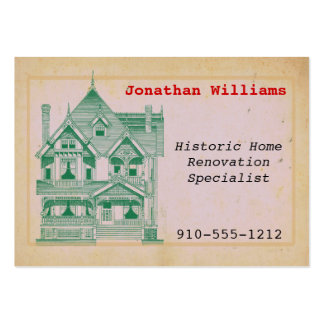 Vintage House Real Estate Renovation Business Card Business Card Templates