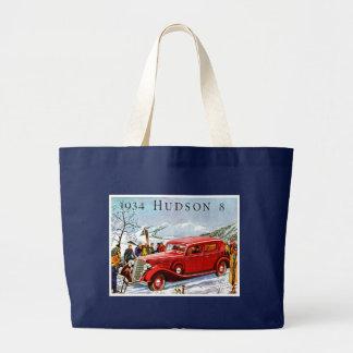 Vintage Hudson Automobile Ad Jumbo Tote Bag