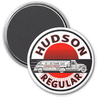 Vintage Hudson Regular gasoline sign 7.5 Cm Round Magnet