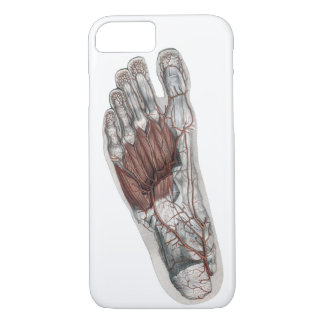 Vintage Human Anatomy Footprint Podiatry Foot iPhone 7 Case
