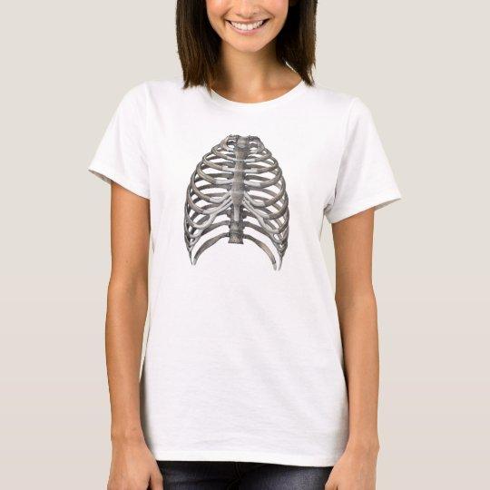 Vintage Human Anatomy Skeleton Skeletal Ribs Bones T-Shirt