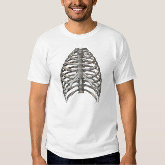 Vintage Human Anatomy Skeleton Skeletal Ribs Bones Tee Shirt