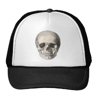Vintage Human Anatomy Skull, Halloween Skeleton Trucker Hat
