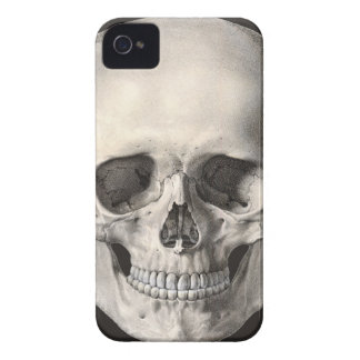 Vintage Human Anatomy Skull, Halloween Skeleton iPhone 4 Case