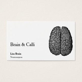 Vintage Human Brain Illustration Business Card