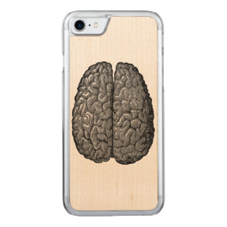 Vintage Human Brain Illustration Carved iPhone 7 Case