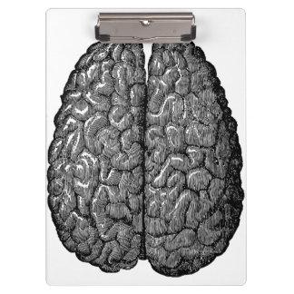 Vintage Human Brain Illustration Clipboard