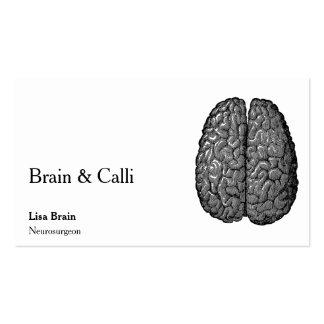 Vintage Human Brain Illustration Pack Of Standard Business Cards