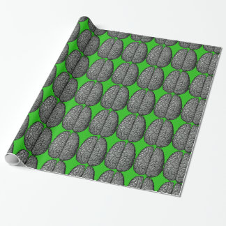 Vintage Human Brain Illustration Wrapping Paper