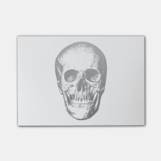Vintage Human Skull Face Post-it Notes