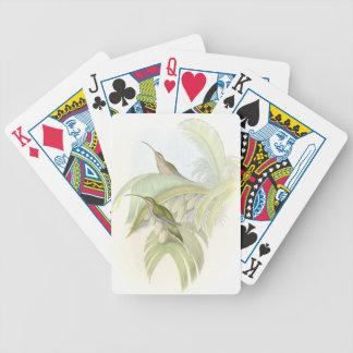 Vintage Hummingbird Birds Wildlife Playing Cards