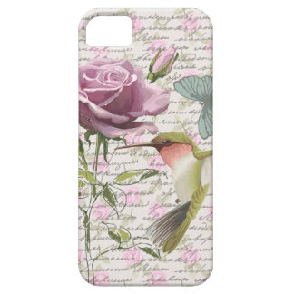 Vintage Hummingbird Butterfly and Rose iPhone 5 Cover