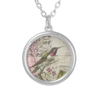 Vintage Hummingbird...charm necklace