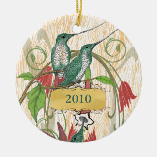 Vintage Hummingbirds Ornament