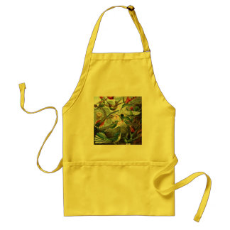 Vintage hummingbirds scientific illustration standard apron