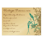 Vintage Hummingbirds Swirl Design Pack Of Chubby Business Cards