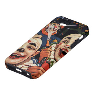 Vintage Humor, Laughing Circus Clowns and Police iPhone 5 Cover