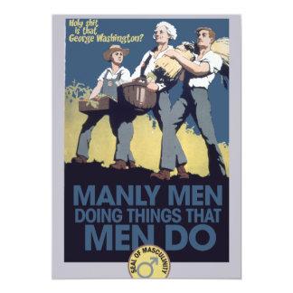 Vintage Humor Manly MEN Card