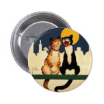 Vintage Humour Funny Silly Animals, Cats Singing 6 Cm Round Badge