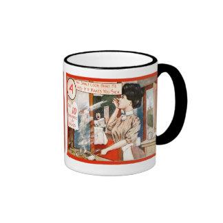 Vintage humour, Ten commandments for women Ringer Mug