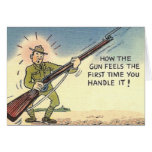 Vintage Humourous Military Army Card