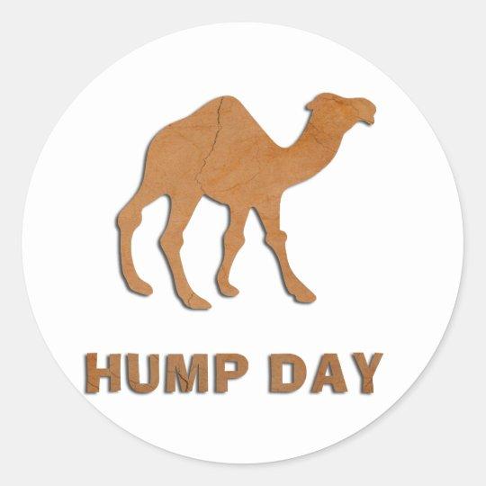 VINTAGE HUMP DAY CAMEL CLASSIC ROUND STICKER