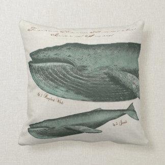 Vintage Humpback whale and calf Cushion