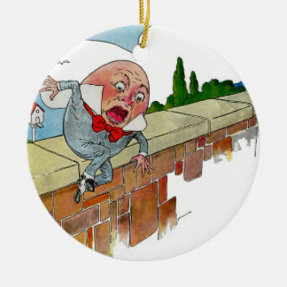 Vintage Humpty Dumpty Nursery Rhyme Illustration Christmas Ornament