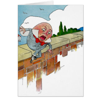 Vintage Humpty Dumpty Nursery Rhyme Illustration Greeting Card