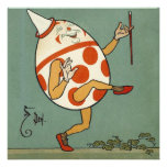Vintage Humpty Dumpty on the Wall Dancing Custom Announcement