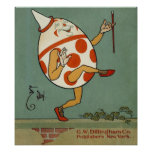Vintage Humpty Dumpty on the Wall Dancing Poster
